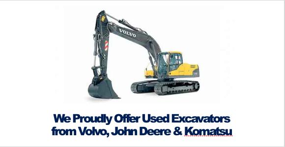 Buy Used Excavators Volvo John Deere Komatsu Rochester NY Ithaca NY New York