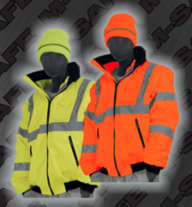Safety Jackets - ANSI 107-2010 Class 3 8-in-1 Bomber Jacket