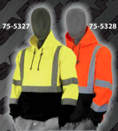 Safety Sweatshirts - ANSI Class 3 Hooded, Pull-Over Sweatshirt