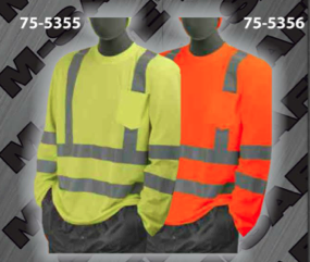 Safety T-Shirt - ANSI Class 3 Deluxe Long-Sleeve T-Shirts