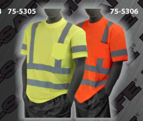 Safety T-Shirt - ANSI Class 3 Deluxe T-Shirts