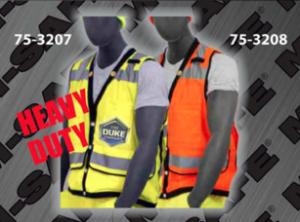 Safety Vests - ANSI Class 2 Vest - Heavy Duty Snap Front