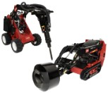 Toro Dingo Cement Bowl and Hydraulic Breaker Rental Attachments