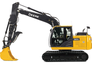Picture of John Deere Excavator Available for rent in Rochster NY and Ithaca NY from the Duke Company