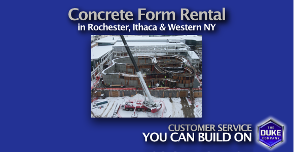 Picture of Concrete Forms for Rent in Rochester and Ithaca NY