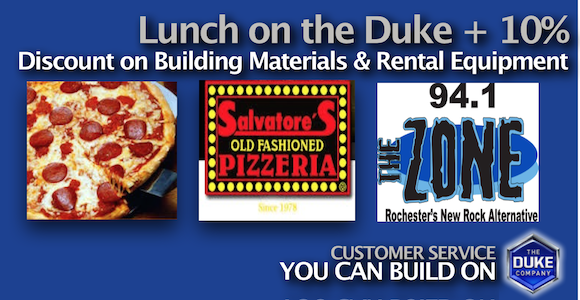 Picture of Lunch on the Duke Promotion in Rochester NY with the Zone 94 point 1